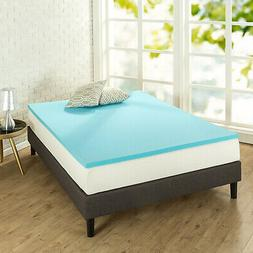 Zinus 1.5 Inch Gel Memory Foam Mattress Topper
