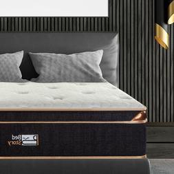 BedStory 10&12 Inch Gel Infused Memory Foam Hybrid Mattress