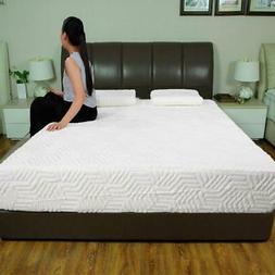 "Hot 10"" Full Size 3-Layer COOL Medium-Firm Memory Foam Mattr"