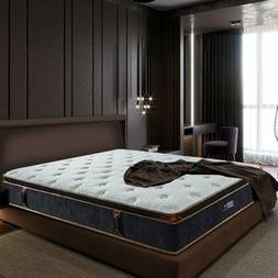 BedStory 12'' Gel Memory Foam Hybrid Mattress Euro Top Desig
