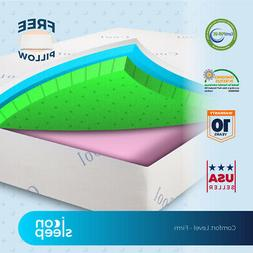 "12"" Cool & Gel Memory Foam Mattress FULL Size Bed Firm Feel"