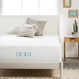 LUCID Comfort Collection 14-inch Plush Queen-size Gel Memory