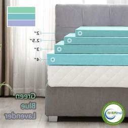 2''/2.5''/3''/4''  Memory Foam Comfort Gel Mattress Topper T