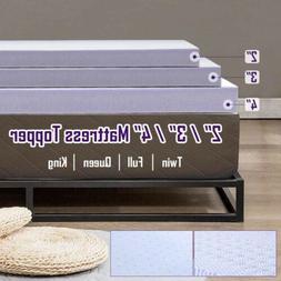 2'' 3'' 4'' Inch Memory Foam Mattress Topper Gel-Infused Twi