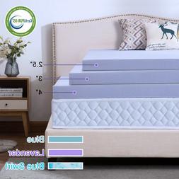 2.5''/3''/4'' Comfort Gel Memory Foam Mattress Topper Dot- Q