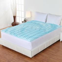 """2"""" Cooling Gel Foam Mattress Topper Pad Bed Queen Size Ortho"""