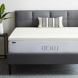 LUCID 2 Inch Ventilated Memory Foam Mattress Topper - Damage