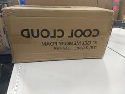 Classic Brands 3-Inch Cool Cloud Gel Memory Foam Mattress To