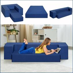 3in1 Memory Foam Floor Mattress Sofa Daybed Blue Seat Conver