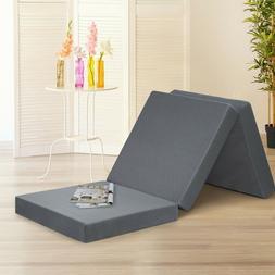 SLEEPLACE 4 Inch Tri-Folding Memory Foam Mattress topper  Ou