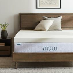 LUCID 4 Inch Ventilated Memory Foam Mattress Topper - Damage