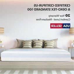 "8"" NEW PRIME Gel-Infused Memory Foam Mattress FULL Size Bed"