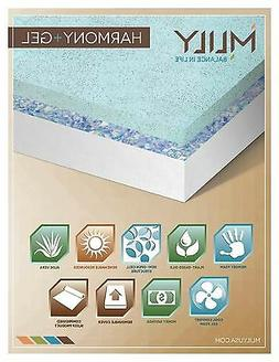 Queen Gel memory foam mattress with two free Harmony pillow