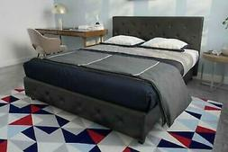 contemporary black queen size bed frame