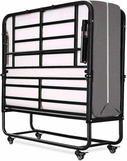 Folding Bed 5 Inch Mattress Memory Foam  Twin Size Wheels St