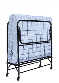 folding bed cot with 5 foam mattress