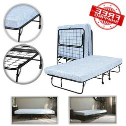 "Folding Guest Bed with 5"" Mattress, Twin"