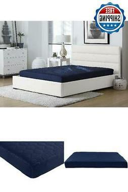 Full Size 6 Inch Memory Foam Mattress Comfort Polyester Quil