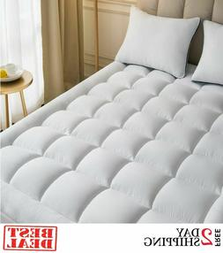 Full Size Mattress Pad Cover Memory Foam Pillow Top Cooling