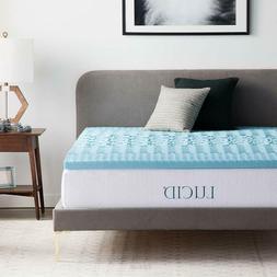 gel memory foam mattress cooling topper comfortable