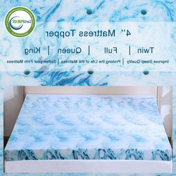 Gel Memory Foam Mattress Topper 2.5/3/4 Inch Lavender Blue S