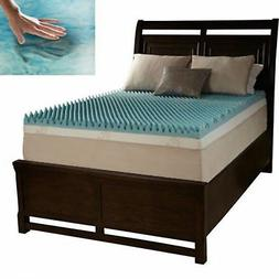 King Size 3-Inch Memory Foam Mattress Bed Cooling Gel Topper