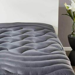 Queen Size Mattress Pad Cover Memory Foam Pillow Top Cooling