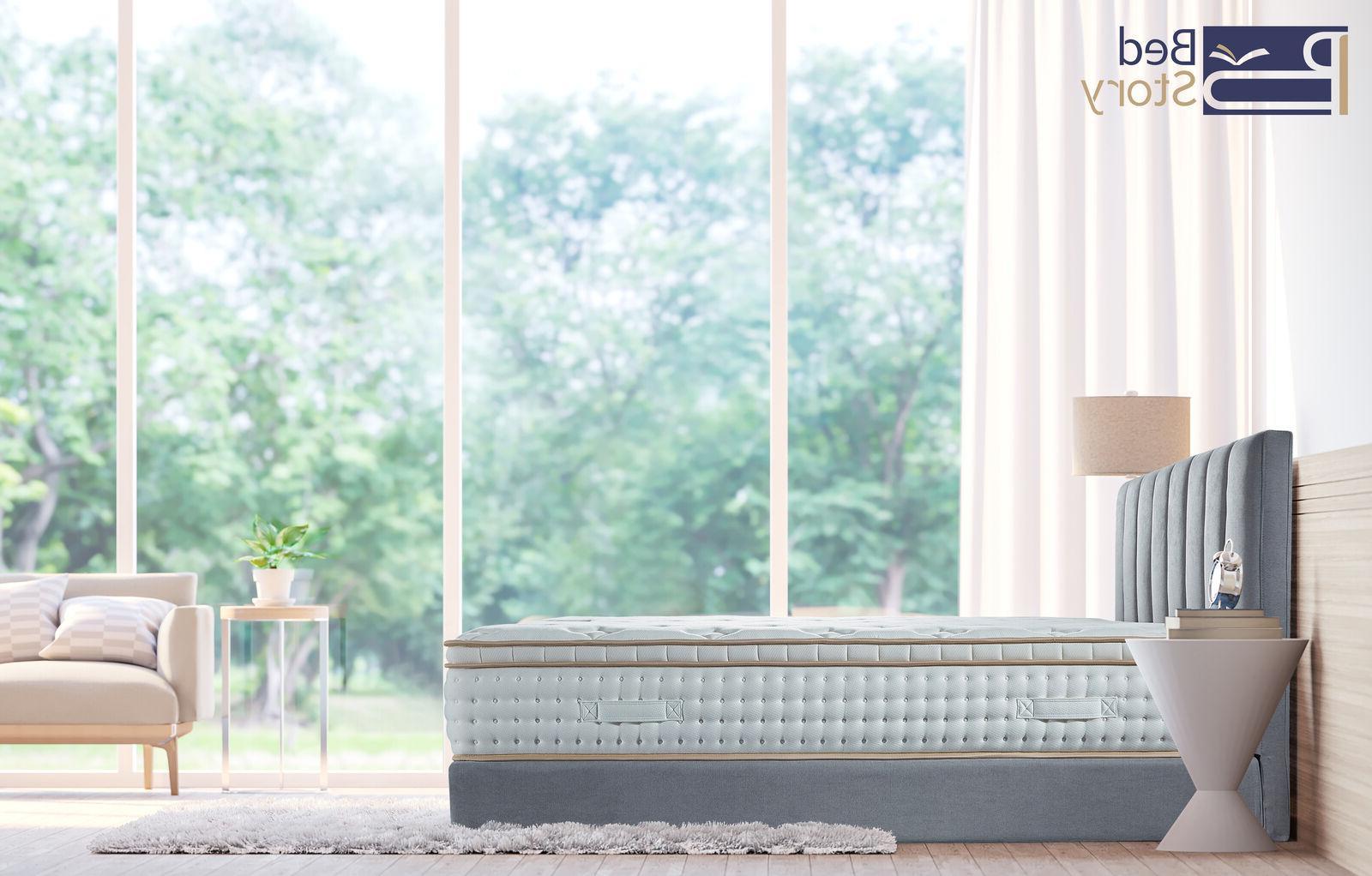 BedStory 10 Inch Gel Memory Hybrid Mattress Queen