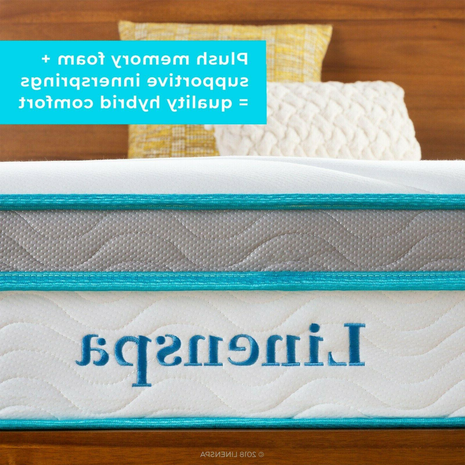 Linenspa 10 Hybrid Memory Foam + Spring -