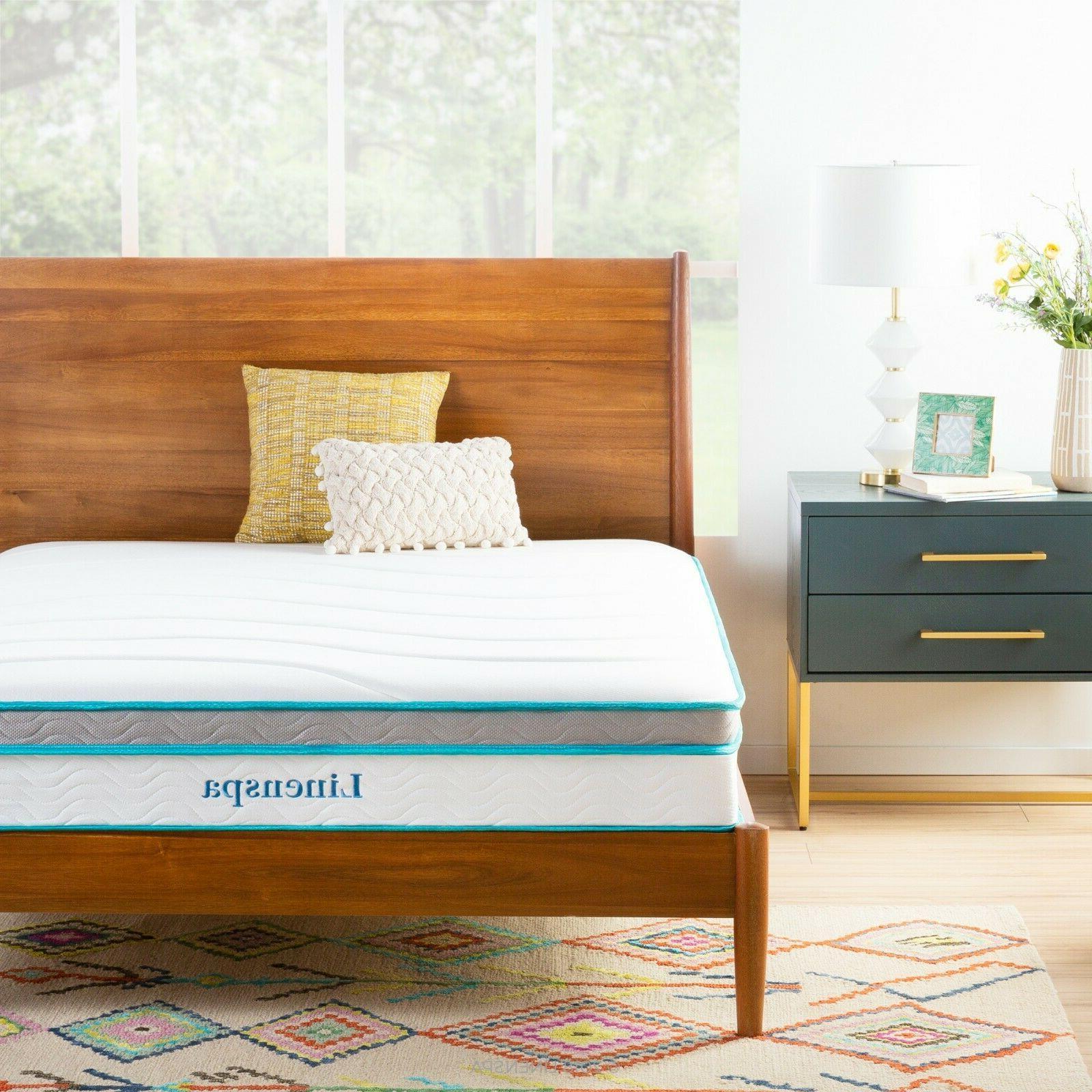 10 hybrid bonnel spring memory foam mattress