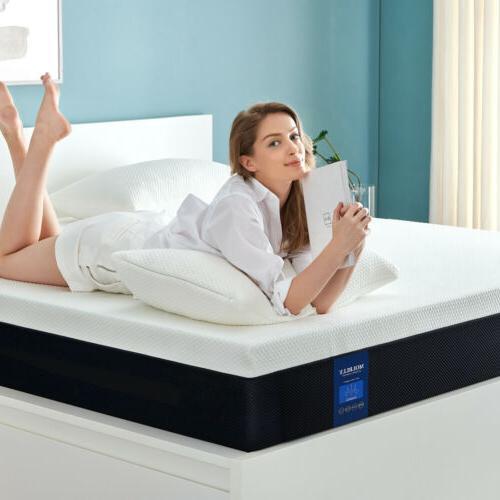 6 inch memory foam mattress with cerpur