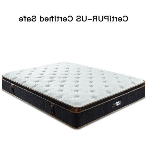 BedStory 12 Inch Gel Infused Memory Hybrid Mattress Full King