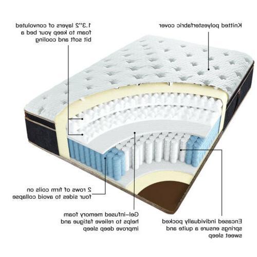 BedStory 12 Infused Foam Mattress Twin Full