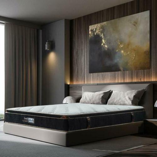 BedStory 12 Inch Infused Memory Foam Hybrid Mattress Twin Queen King US