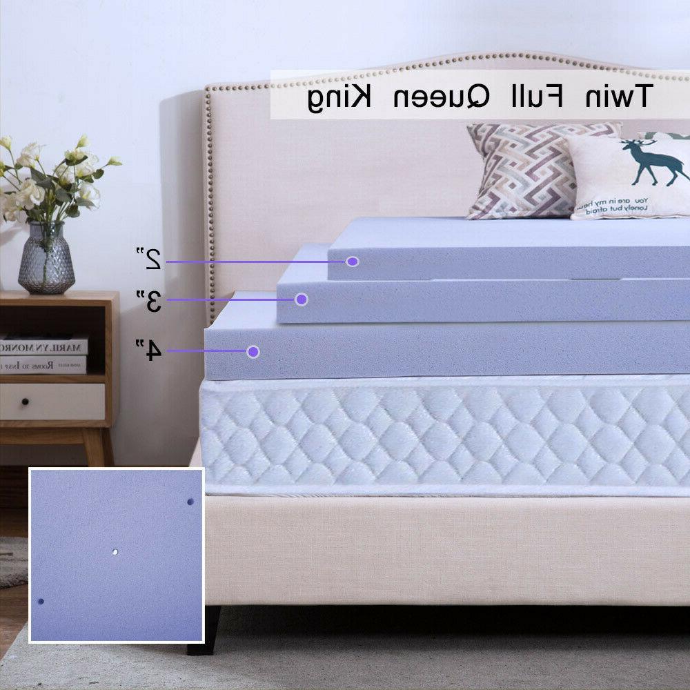 2 4 Blue Mattress Topper Queen King Twin Lavender