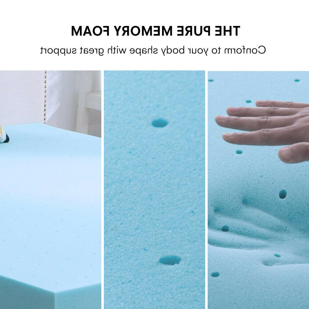 2 3 4 Inch Blue Memory Foam Mattress Queen