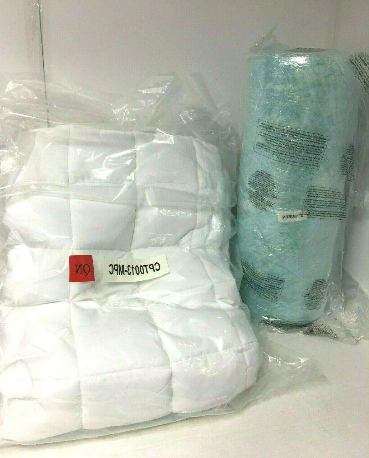 2 memory foam fiber mattress topper queen