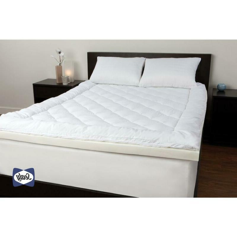 Sealy 3 in. Queen Memory Foam Pillowtop Mattress Topper