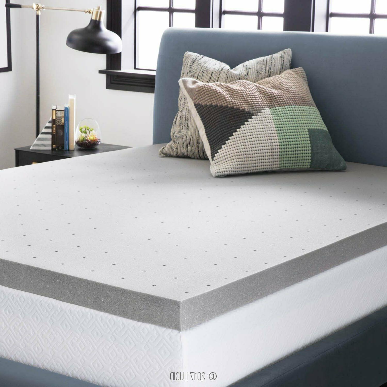 3-Inch Memory Foam Mattress Topper Gel Soft Ventilated Bambo