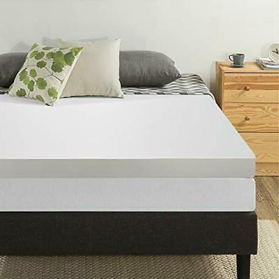 4 Inches Memory Foam Bed Pad Mattress Topper Twin Size Zippe