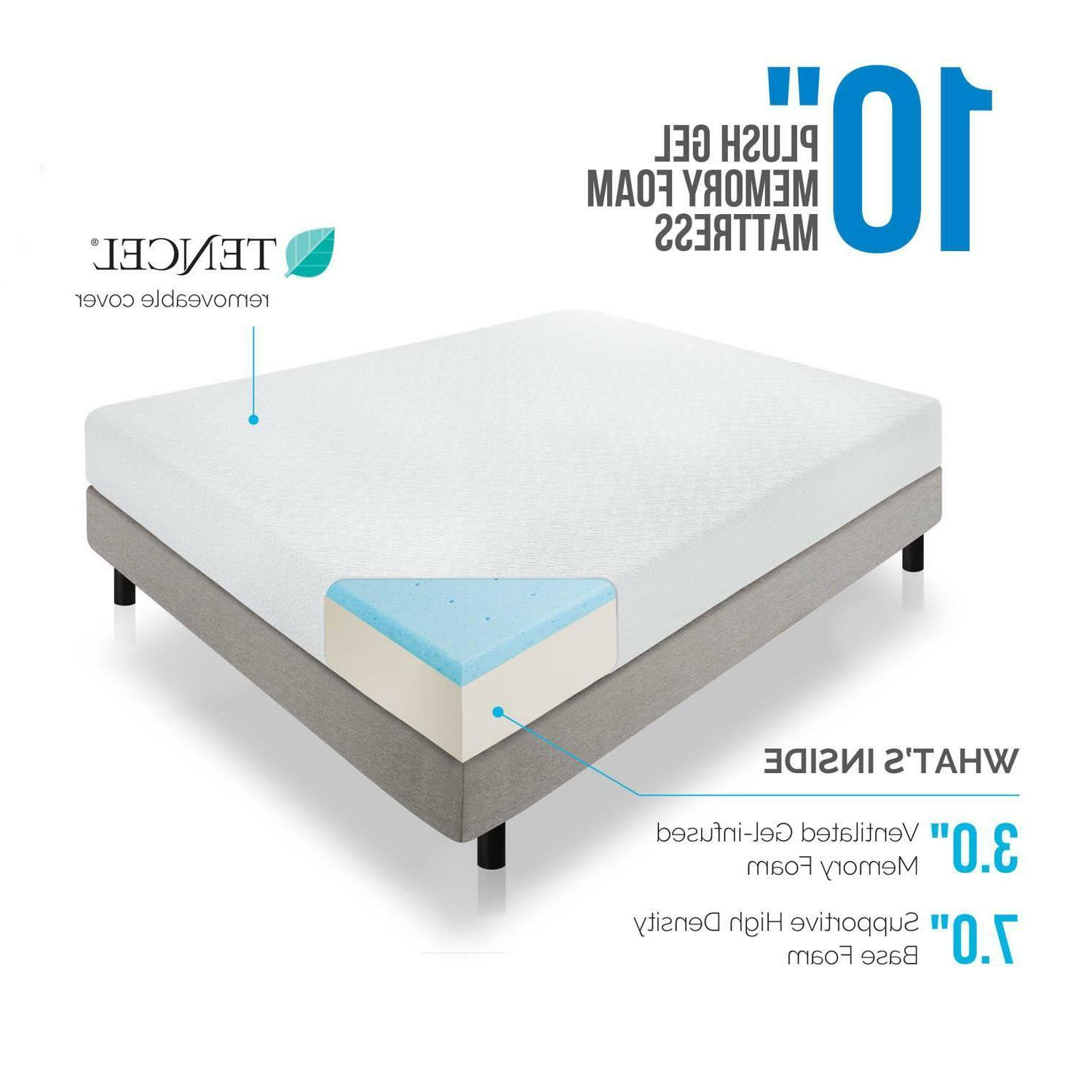 LUCID 8, and Inch Memory Foam Twin Queen King