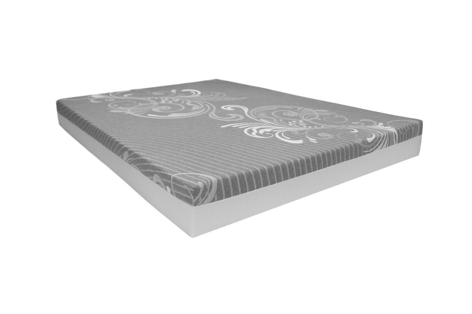 "LOUNJ 8"" Gel Foam Mattress King Queen Cal Full in USA"