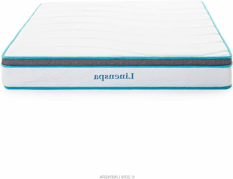 Linenspa 8 Inch Memory Foam & Innerspring Hybrid Mattress-Fi