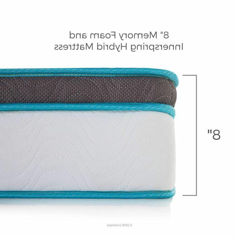 Linenspa Mattress 8 Inch Memory Foam Hybrid