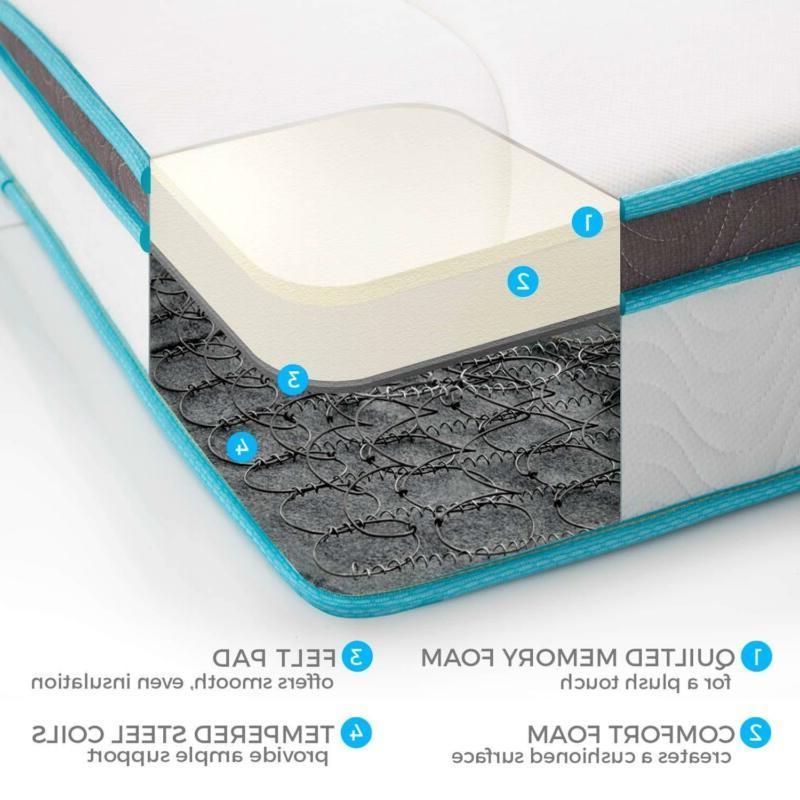 Linenspa Mattress 8 Memory Foam Innerspring Hybrid Queen