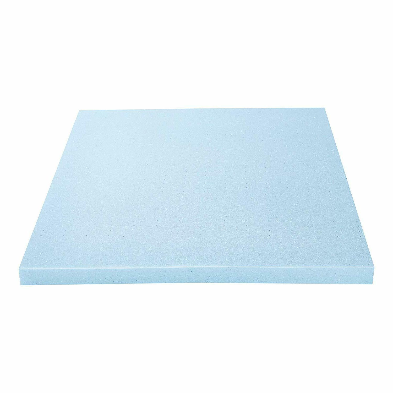 cooling gel infused memory foam mattress topper