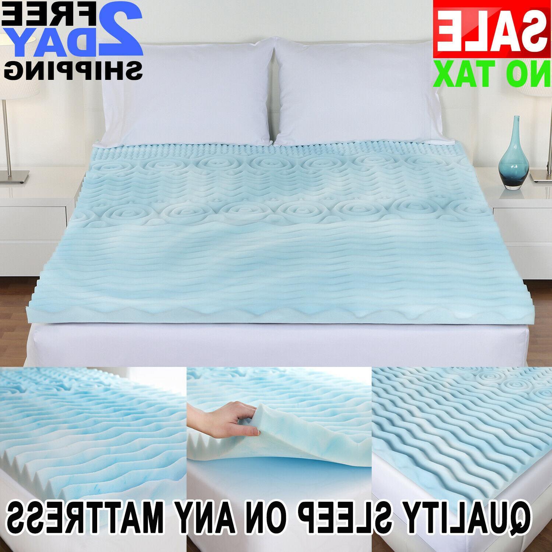 Cooling Gel Memory Foam Pillow Top Mattress Pad
