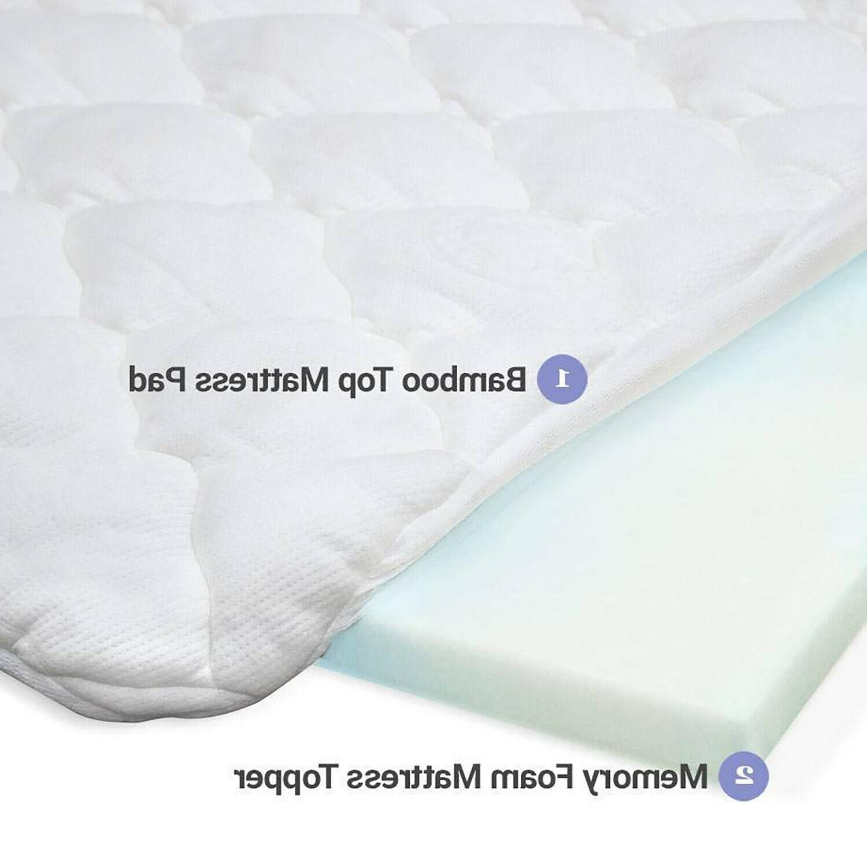 3 Inch Double Thick Bamboo Matress Pad Memory Foam Mattress