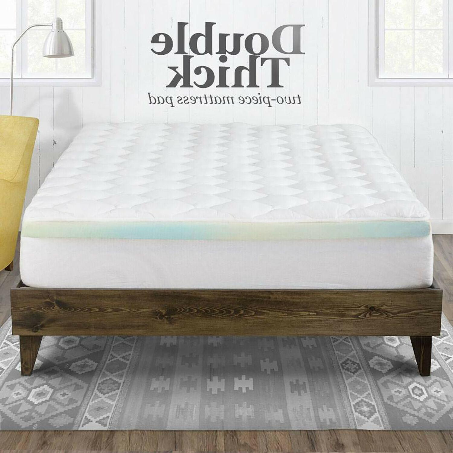 Double Thick Matress Pad Mattress Topper Inch Top
