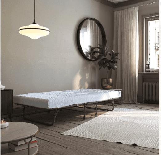 "Folding Bed with 5"" Foam Roll"